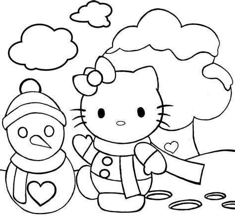 hello kitty christmas coloring pages online hello kitty christmas coloring page wallpapers9