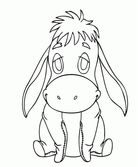 eeyore coloring pages baby eeyore coloring pages coloring home