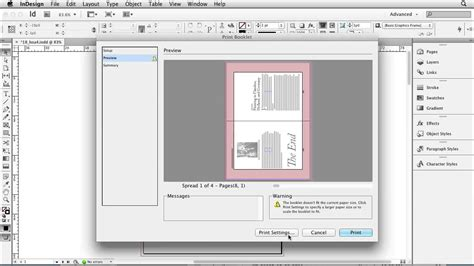 how to print to booklet in indesign book design doovi indesign overview the print booklet feature lynda com