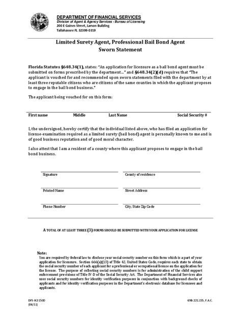 sworn statement exle sworn statement form 2 free templates in pdf word