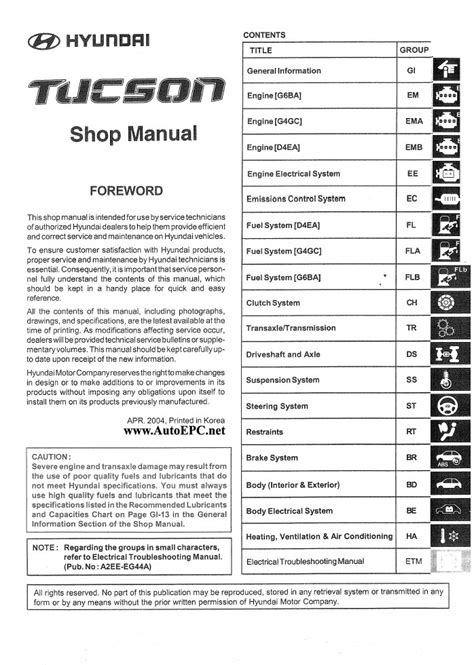 service manual repair manual download for a 2012 hyundai tucson hyundai tucson technical