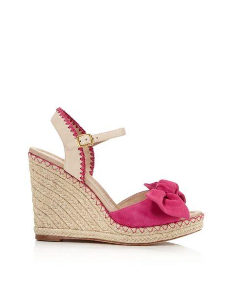 kate spade pink sandals kate spade new york espadrille platform wedge sandals