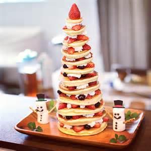 パンケーキタワーの作り方 パンケーキで作るクリスマスツリー happy birthday project