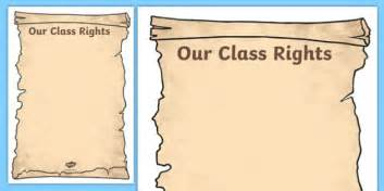 class constitution template our class rights template our class rights class rights