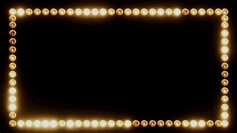 frame design lighting frame of light bulbs for a film border stock video footage