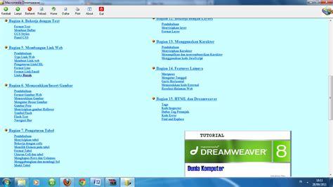 tutorial macromedia dreamweaver 8 tips komputer dan free software