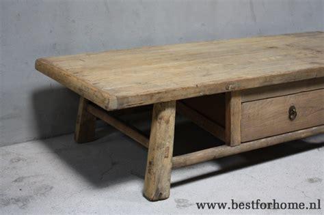 sobere salontafel landelijke oud houten salontafel unieke stoere sobere