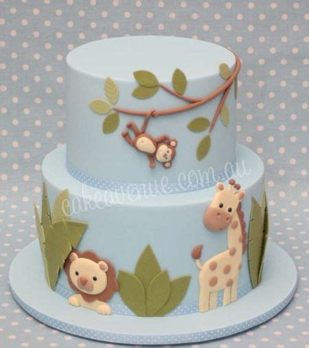 Animal Baby Shower Cakes by Adorable Jungle Animals Baby Shower Cake Amazing
