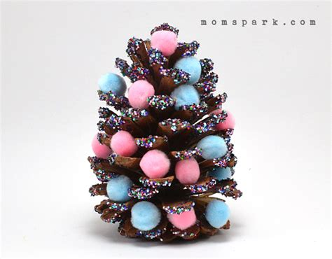 pine cone christmas ornaments mom spark mom blogger