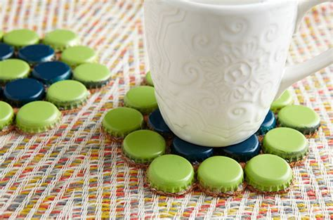 Cheap Cool Home Decor by Make Bottle Cap Coasters And 9 Other Bottle Cap Crafts