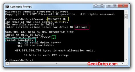 format hard disk by dos how to format a hard drive to fat32 in windows 7 or vista