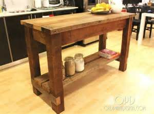 Kitchen Island Diy Ideas by 30 Rustic Diy Kitchen Island Ideas