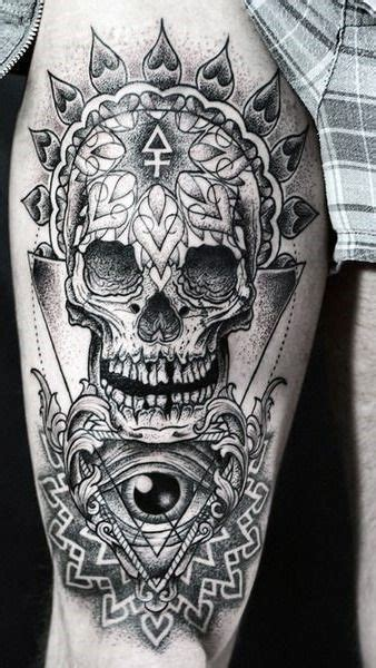 upper leg tattoos for men 37 best tattoos on leg images on