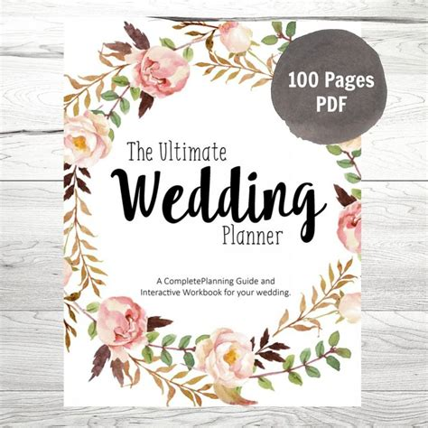 Wedding Planner Binder by Printable Wedding Planner Diy Wedding Planner Diy