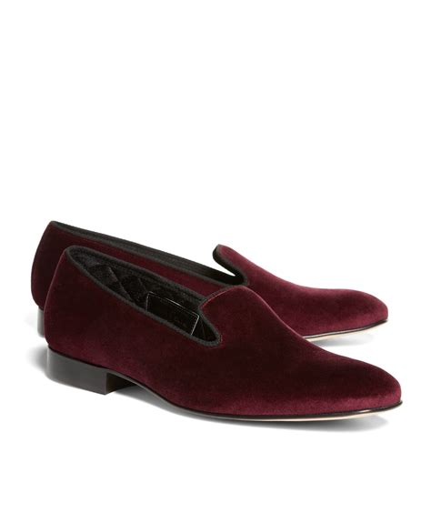 mens velvet slippers brothers velvet slippers in brown for burgundy