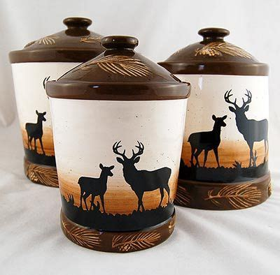 canisters kitchen decor canister sets rustic deer canister set canister and