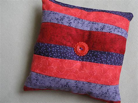 Patchwork Pincushion - home ec class patchwork pin cushion
