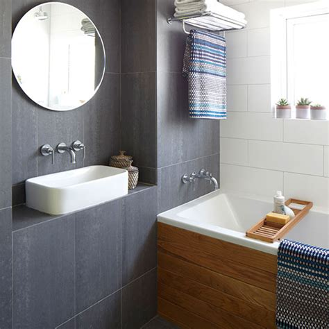 Modern Bathroom Tiles Uk Modern Bathroom With Slate Grey Tiles Bathroom