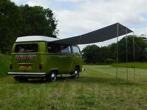 vw t2 awning vw type 2 t25 cervan sun canopy awning forest green