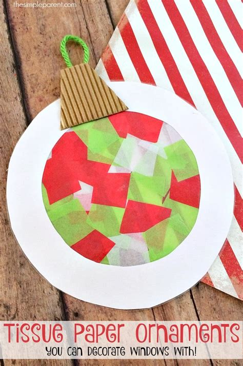 tissue paper christmas decorations help the make tissue paper ornaments that as suncatchers