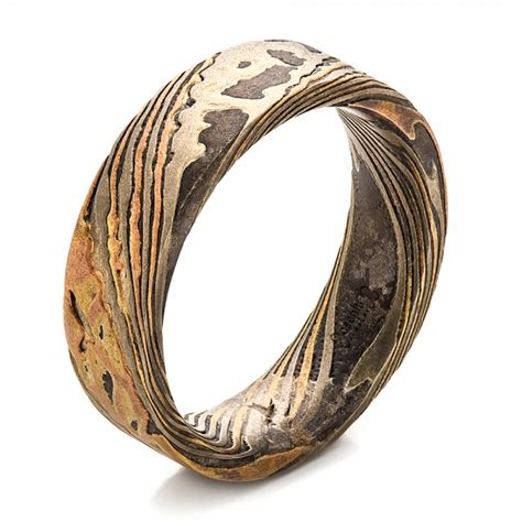 mens custom wedding rings custom s mokume wedding band 100583
