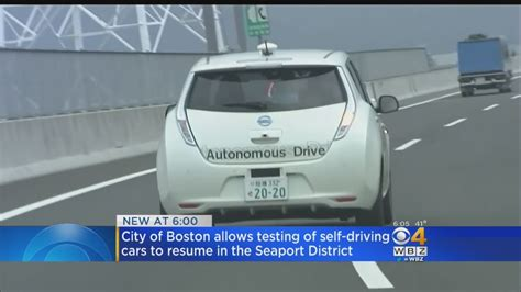 Resume Suspended Vi by Self Driving Vehicle Testing Will Resume In Boston