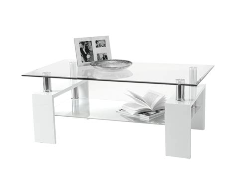 White And Glass Coffee Table Parma Glass And White High Gloss Coffee Table 60w X 100l X 38h Cm