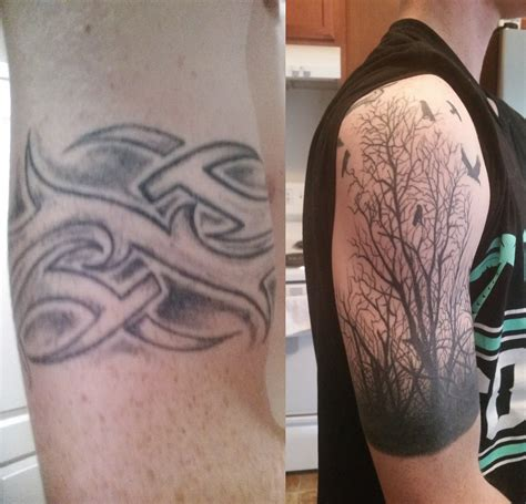 tribal cover up tattoos before and after before and after tribal cover up by vb ink