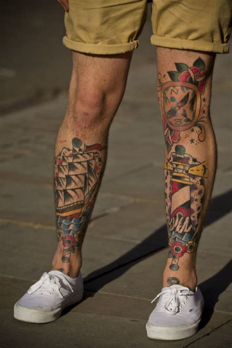 compass lighthouse tattoo 35 awesome lighthouse tattoos on legs