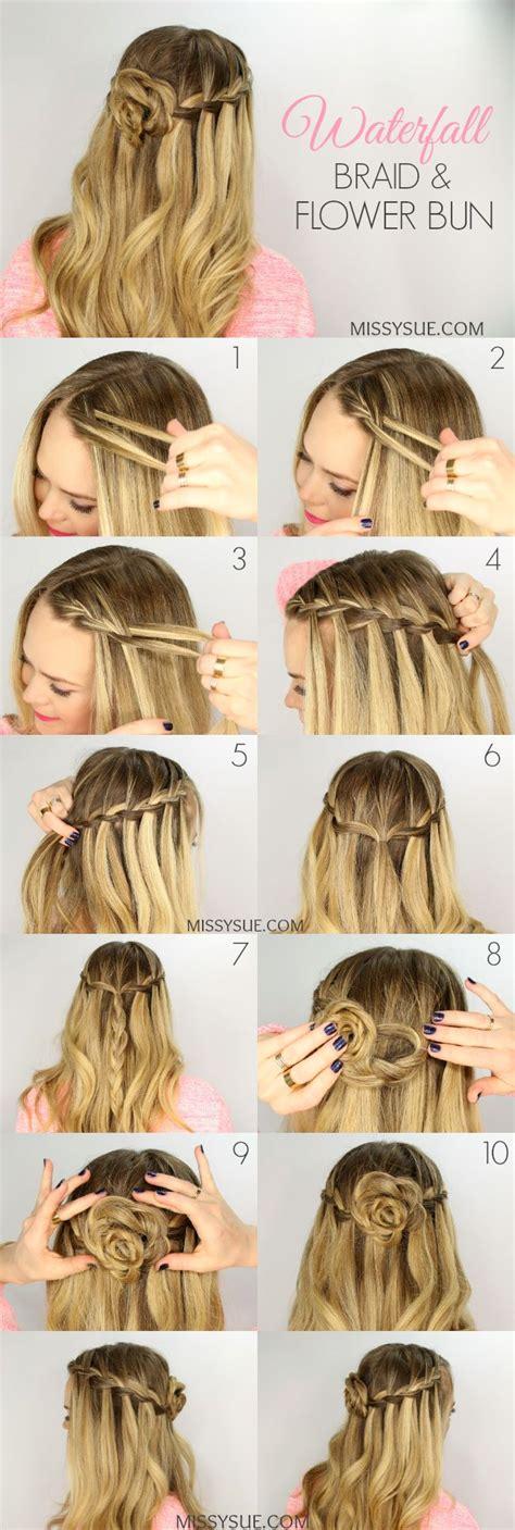 Waterfall Braid Bun 28 Diy Hairstyles | 25 best ideas about waterfall braids on pinterest