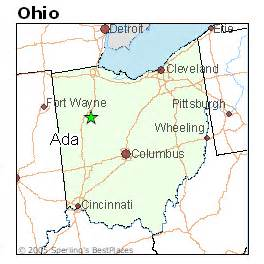 Ada Ohio Map by Best Places To Live In Ada Ohio