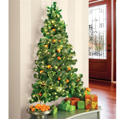 hanging christmas tree wall hanging pre lit christmas tree the green head