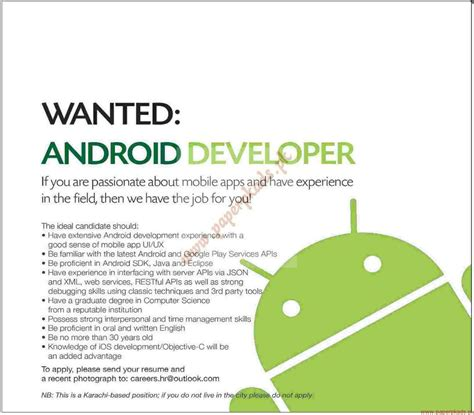 android ad android developers required ads 12 april 2015 paperpk