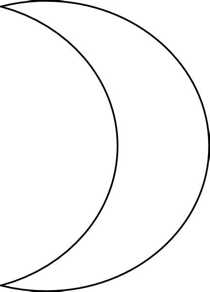 coloring page half moon half moon drawing clipart best