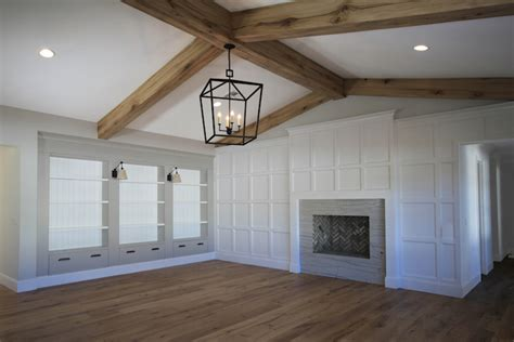 boards and beams living room with rustic wood beams design ideas