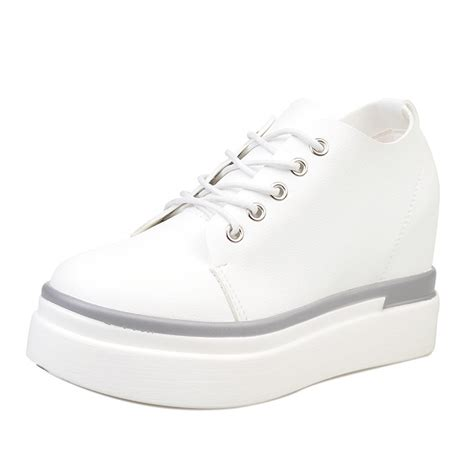get cheap white wedge sneakers aliexpress