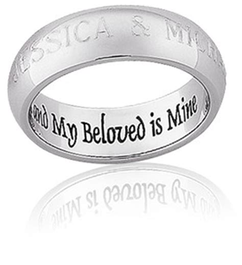 Bible Verses Engraved Wedding Band by Wedding Quotes For Engraving Quotesgram