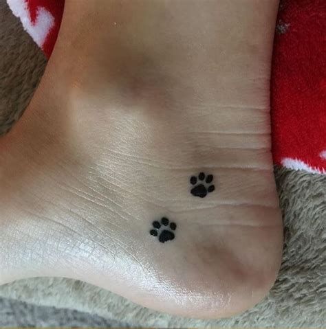 cat paw tattoo 50 amazing paw print ideas for pet 2019