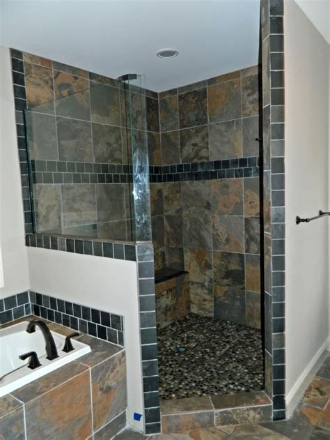 Bathroom Slate Tile Ideas 25 Best Ideas About Slate Shower On Pinterest Slate Shower Tile Slate Bathroom And Shower