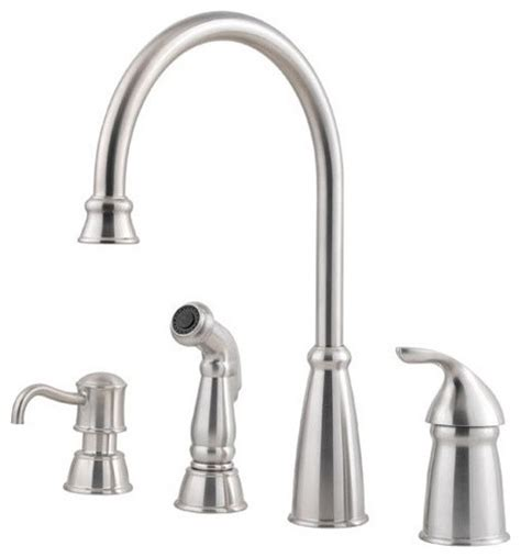 4 hole kitchen faucets price pfister f 026 4cbs avalon 4 hole single handle lead
