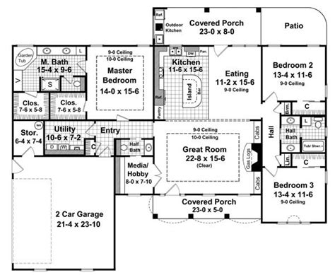 2000 square foot open floor plans the pecan meadow 6336 3 bedrooms and 2 baths the house