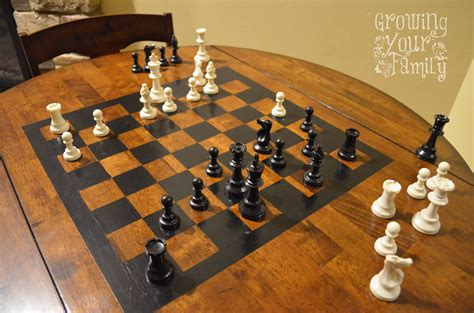 diy chess sets micro chess set our diy chess table kids educational pinterest chess