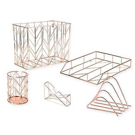 bed bath and beyond desk accessories copper wire desk accessories bed bath beyond