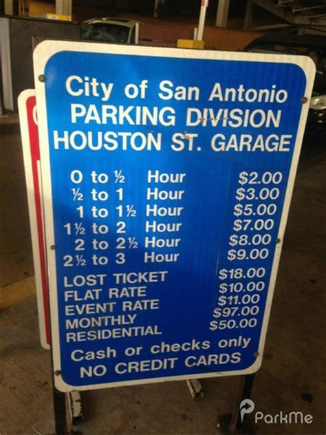 Bc Garage San Antonio by Houston Garage Parking In San Antonio Parkme