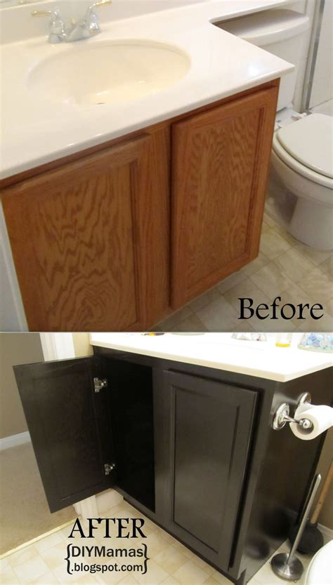 how to refinish a bathroom cabinet diy bathroom cabinet staining woodworking projects plans
