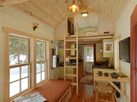 tiny house rustic living room burlington by