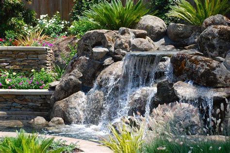 rock waterfalls for gardens rock waterfalls for landscaping rock water