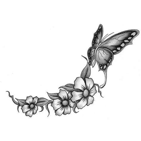 black and white flower tattoo designs black and white butterfly and flowers design