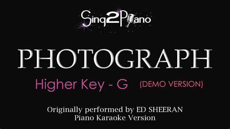 ed sheeran perfect higher key photograph higher key piano karaoke demo ed sheeran