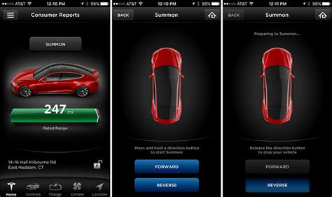 tesla apps tesla model s update improves safety of its summon feature